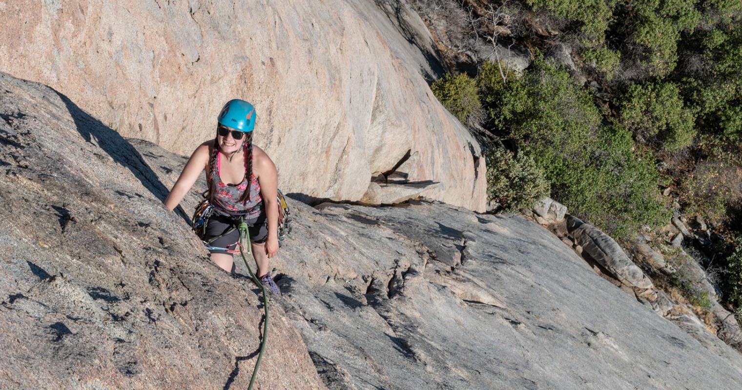 Climbing Tollhouse Traverse – Tollhouse Rock