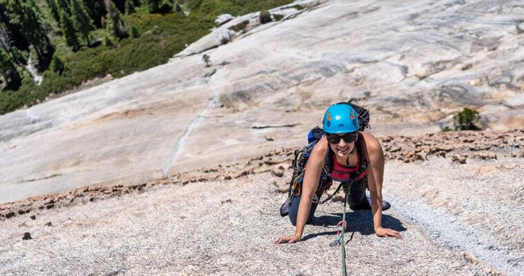 Perfect Sierra Slab Climbing on Moonlight Madness 5.9, Shuteye Ridge